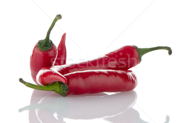 Red hot peppers Stock photo © homydesign