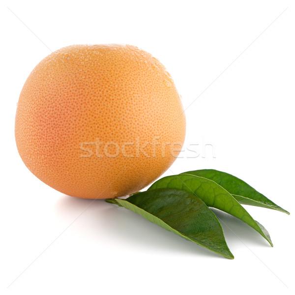 érett piros grapefruit izolált fehér étel Stock fotó © homydesign