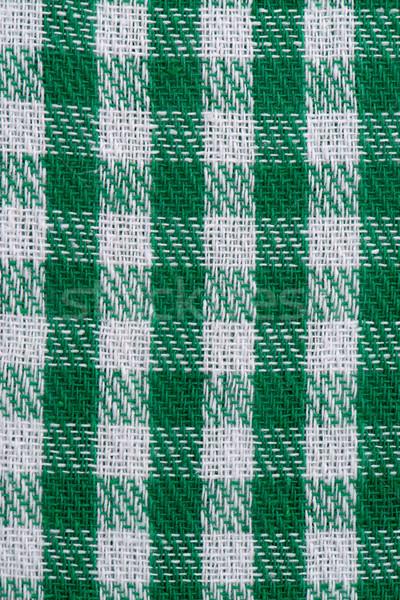 Green checked fabric Stock photo © homydesign