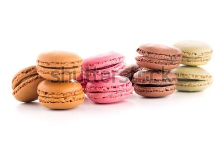 Colorful French Macarons Stock photo © homydesign