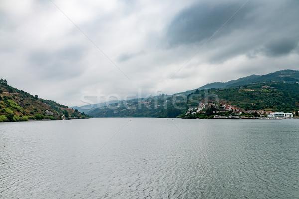 表示 谷 ポルトガル 丘 空 水 ストックフォト © homydesign