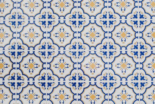 Portuguese glazed tiles 100 Stock photo © homydesign