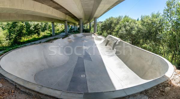 Concrete skate park Stock photo © homydesign