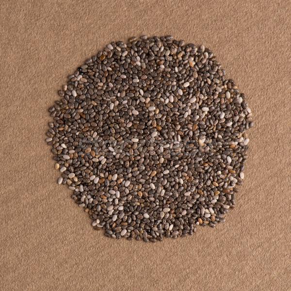 Circle of chia seeds Stock photo © homydesign