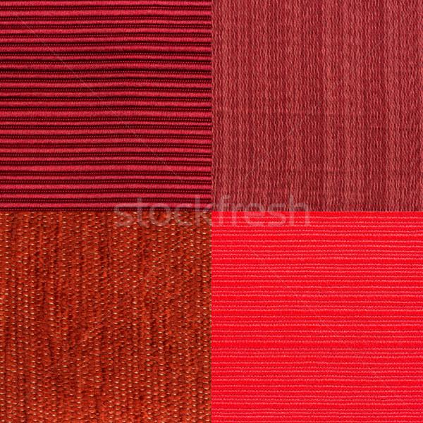 Ayarlamak kırmızı kumaş doku moda Stok fotoğraf © homydesign