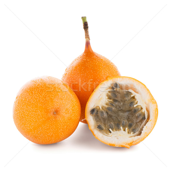 Passion fruits alimentaire orange tropicales blanche Photo stock © homydesign