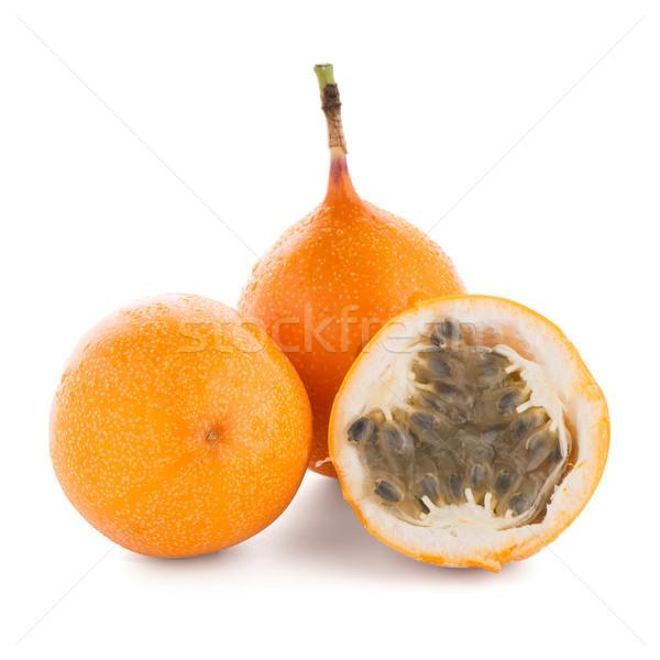 Tutku meyve gıda turuncu tropikal beyaz Stok fotoğraf © homydesign