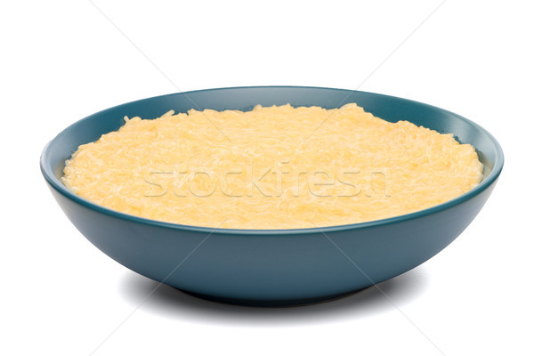 Vermicelli desert on a blue ceramic plate Stock photo © homydesign