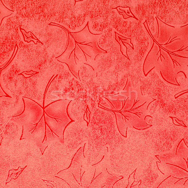 Red floral leather pattern  Stock photo © homydesign