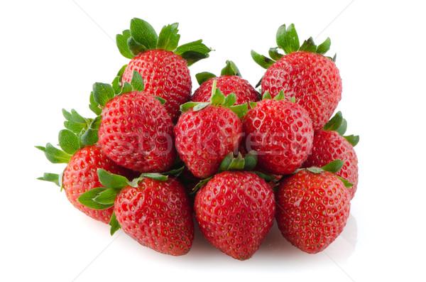 Stok fotoğraf: Iştah · açıcı · çilek · beyaz · meyve · kırmızı · çilek