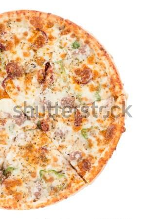 İtalyan pizza yalıtılmış beyaz arka plan restoran Stok fotoğraf © homydesign