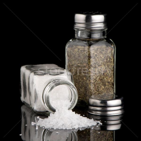 Tuz keklikotu Metal pişirme fotoğrafçılık yalıtılmış Stok fotoğraf © homydesign