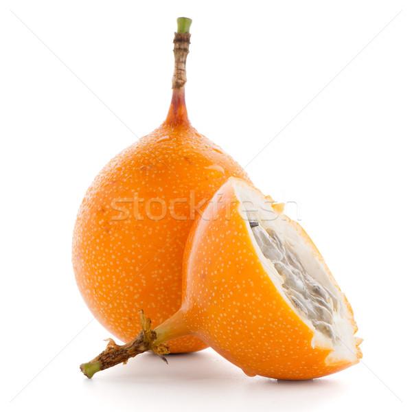 Szenvedély gyümölcs étel csoport trópusi citromsárga Stock fotó © homydesign