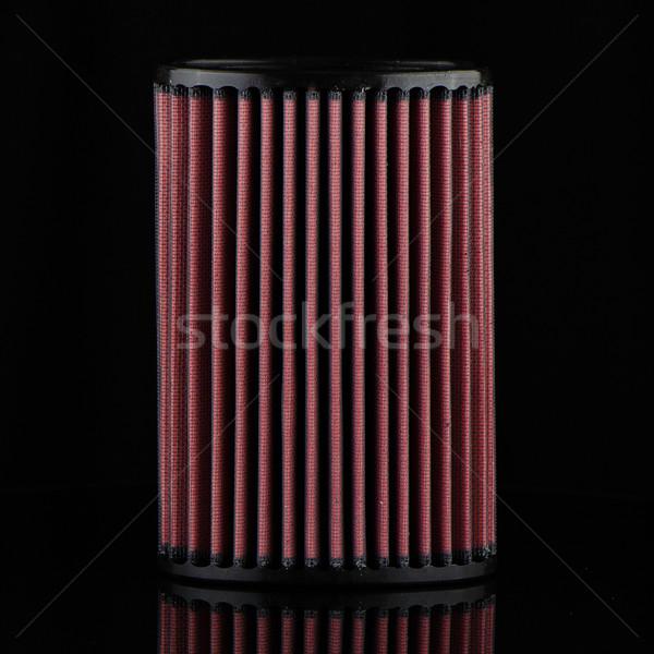 Levegő kúp szűrő fekete jármű módosítás Stock fotó © homydesign