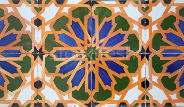 Portuguese glazed tiles. Stock photo © homydesign