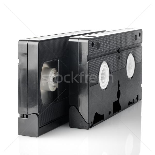 Starych wideo odizolowany biały telewizji technologii Zdjęcia stock © homydesign