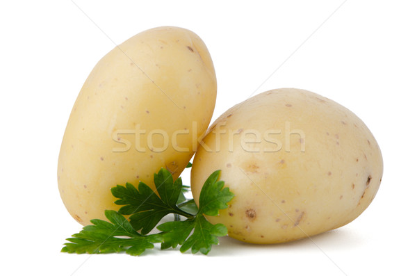 Stock photo: New potatoes and green parsley