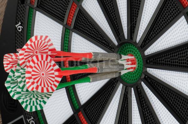 дартс совета дартс спорт зеленый Сток-фото © homydesign