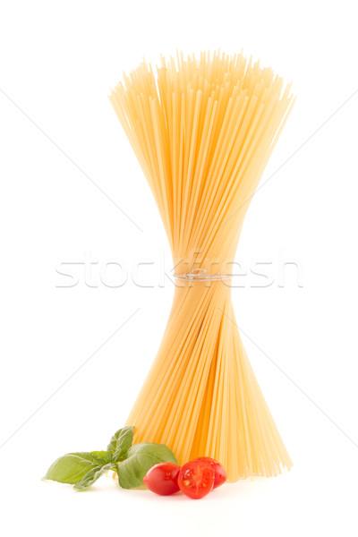 Spaghetti bianco foglia salute verde Foto d'archivio © homydesign