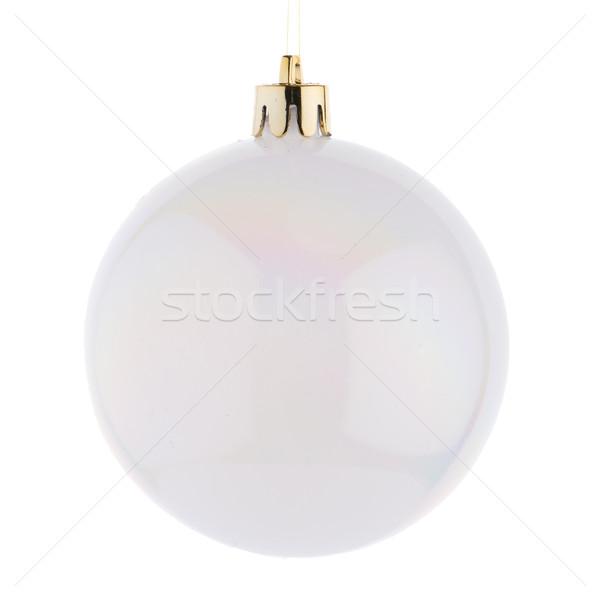 Bianco Natale gingillo sfera ornamento isolato Foto d'archivio © homydesign