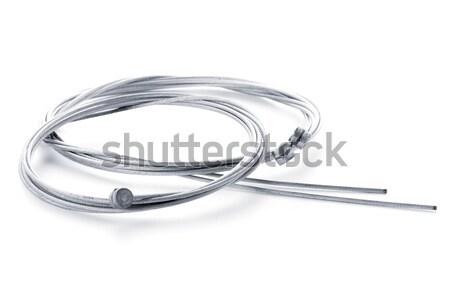 велосипед тормоз проводов белый велосипедов промышленности Сток-фото © homydesign
