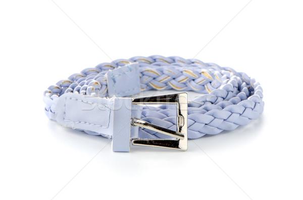 Gürtel isoliert Leder weiß männlich Kleidung Stock foto © homydesign