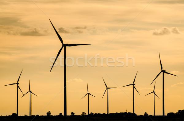 Grup elektrik güç nesil görmek gökyüzü Stok fotoğraf © homydesign
