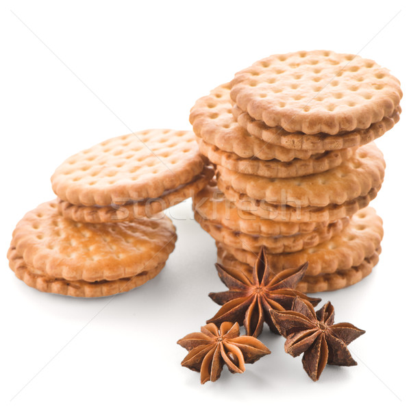 Sandwich biscuits with vanilla filling Stock photo © homydesign