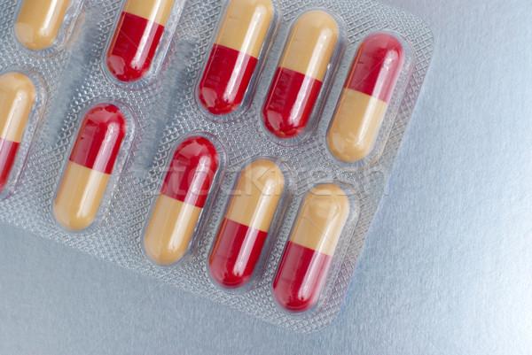 Médico pílulas macro prata medicina ajudar Foto stock © homydesign