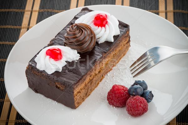 Stock photo: Piece of chocolate cake