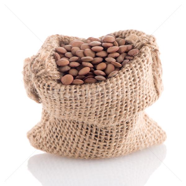 çuval bezi çanta beyaz gıda araç Stok fotoğraf © homydesign