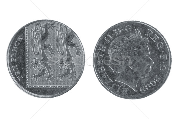 Stock photo: Ten Pence coin