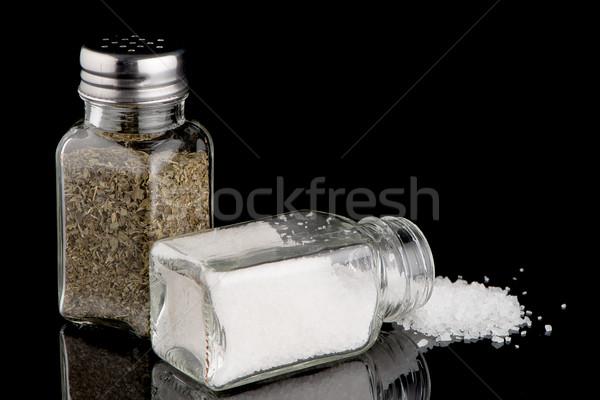 Tuz keklikotu mutfak pişirme fotoğrafçılık yalıtılmış Stok fotoğraf © homydesign