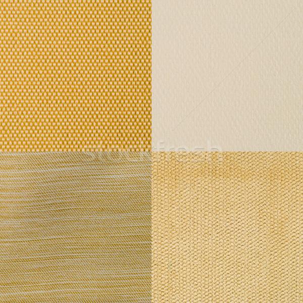 Set giallo tessuto texture abstract Foto d'archivio © homydesign