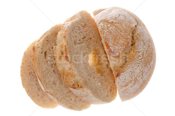 Fehér kenyér szeletek izolált fehér fotó eszik Stock fotó © homydesign