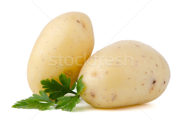 New potatoes and green parsley Stock photo © homydesign