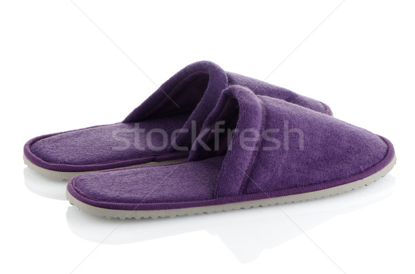 A pair of purple slippers Stock photo © homydesign