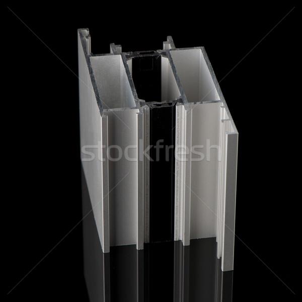 アルミ プロファイル サンプル 孤立した 黒 建物 ストックフォト © homydesign