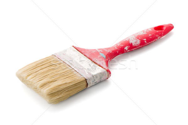 Red used paint brush Stock photo © homydesign