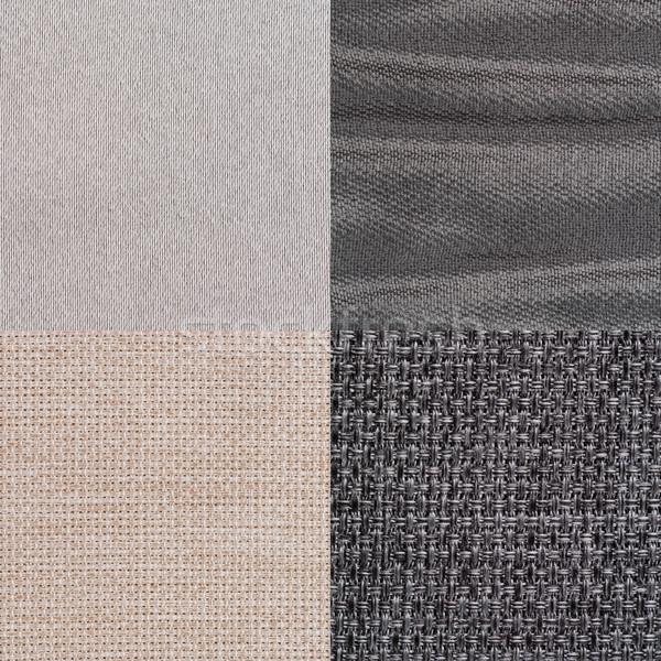 Set of blue fabric samples Stock photo © homydesign