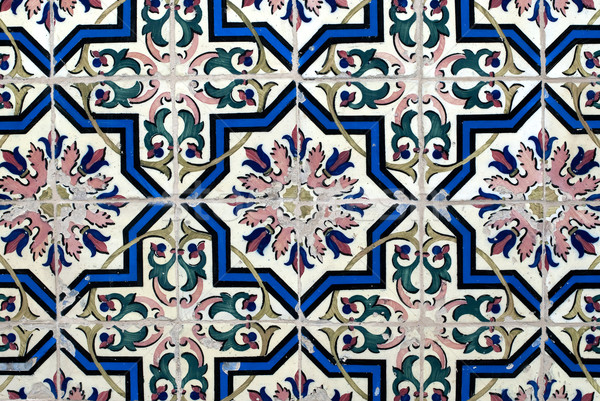 Portuguese glazed tiles 016 Stock photo © homydesign