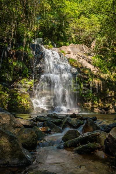 Mooie waterval Portugal lange blootstelling water voorjaar Stockfoto © homydesign