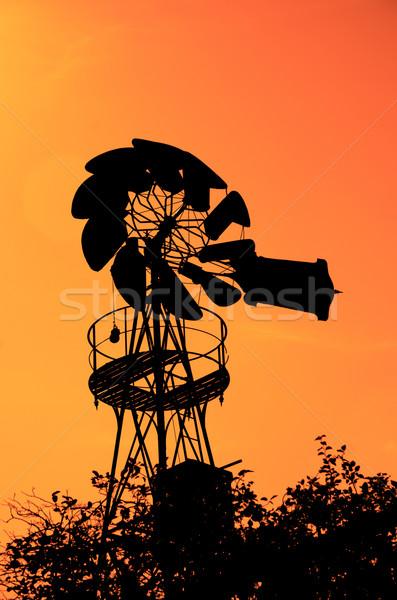 Old Farm Windmill Stock photo © homydesign