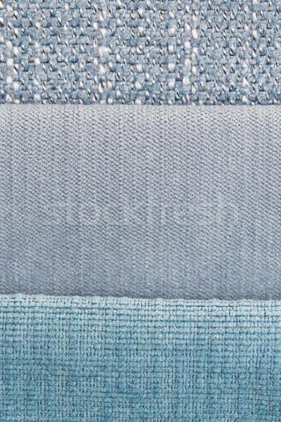Stok fotoğraf: Mavi · kumaş · doku · dizayn · duvar · kağıdı