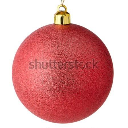 Red Christmas bauble Stock photo © homydesign