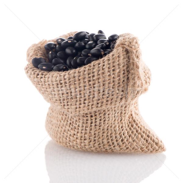 Black beans bag Stock photo © homydesign