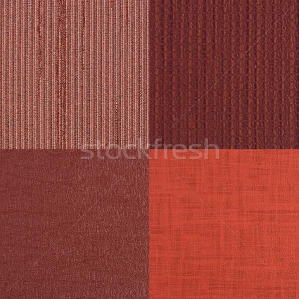 Conjunto vermelho vinil textura parede Foto stock © homydesign