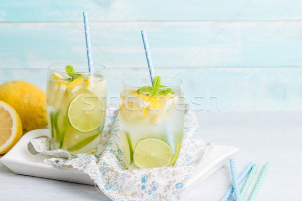Summer citrus fruits drink Stock photo © homydesign