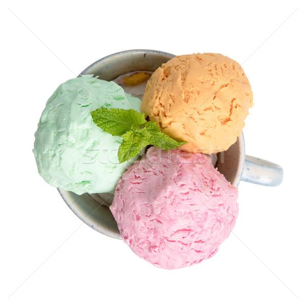 Ice cream balls  Stock photo © homydesign