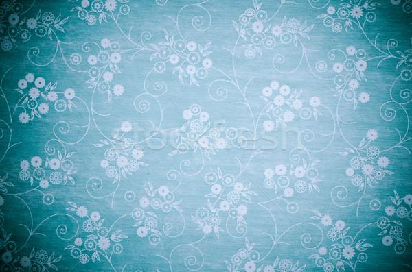 Klasszikus könyvborító fehér virágok terv virágok textúra Stock fotó © homydesign